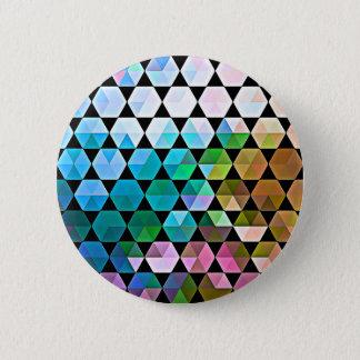 Rainbow Hex Graphic Design Pinback Button