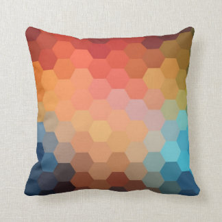Rainbow Hexagon Chevron Pattern 2 Throw Pillow
