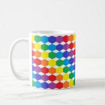 Rainbow Hexagons Coffee Mug