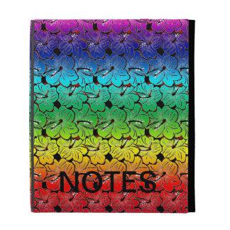Rainbow Hibiscus Cover iPad Folio Case