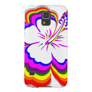 Rainbow Hibiscus design Case For Galaxy S5