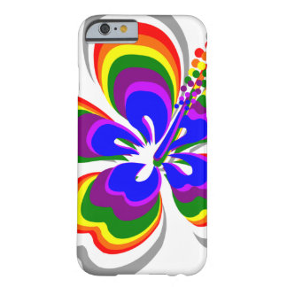 Rainbow hibiscus flower barely there iPhone 6 case
