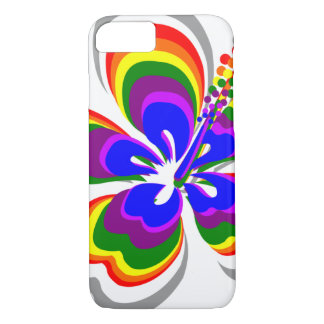 Rainbow hibiscus flower iPhone 7 case