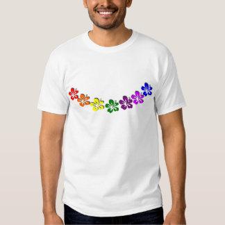 Rainbow hibiscus flower shirt