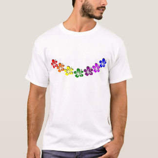 Rainbow hibiscus flower T-Shirt