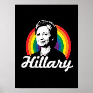 Rainbow Hillary - LGBT Politics - Poster