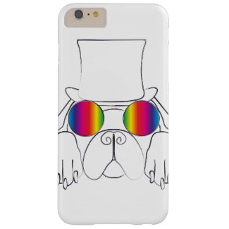 Rainbow Hippie Dog Barely There iPhone 6 Plus Case