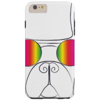 Rainbow Hippie Dog Tough iPhone 6 Plus Case