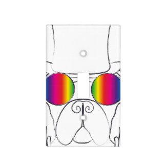 Rainbow Hippie Dog Light Switch Cover
