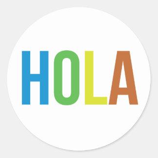 Rainbow Hola Classic Round Sticker