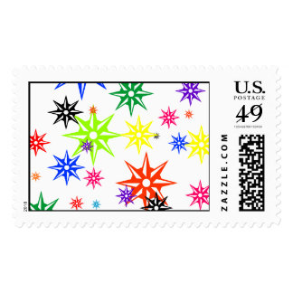 Rainbow Holiday Oranments Postage