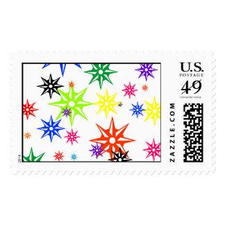 Rainbow Holiday Oranments Postage Stamp