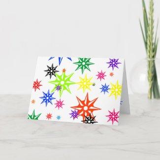 Rainbow Holiday Ornaments card