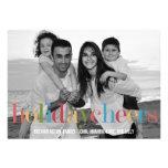 RAINBOW Holiday Photo Cards Custom Announcement