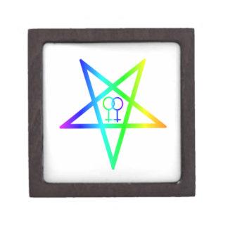 Rainbow Homosexual Female Inverted Pentagram Premium Gift Box