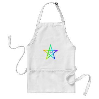 Rainbow Homosexual Female Pentagram Adult Apron