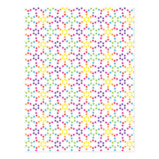 Rainbow Honeycomb Postcard
