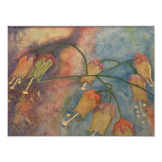 Rainbow honeysuckle flowers poster