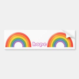 Rainbow hope car bumper sticker