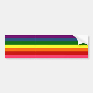 Rainbow Horizontal Stripes Bumper Sticker