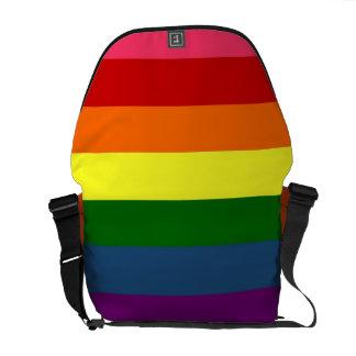Rainbow Horizontal Stripes Courier Bag