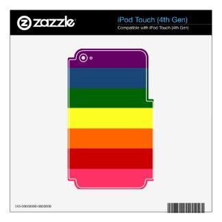Rainbow Horizontal Stripes iPod Touch 4G Skin