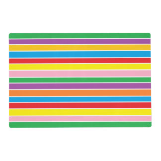 Rainbow Horizontal Stripes Placemat