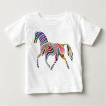 Rainbow Horse Baby T-Shirt