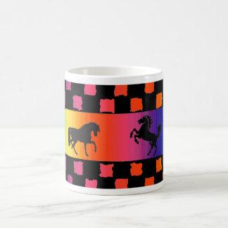 Rainbow Horse checker mug