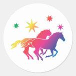 Rainbow Horse Couple