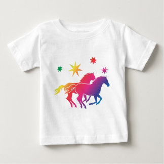 Rainbow Horse Couple Baby T-Shirt