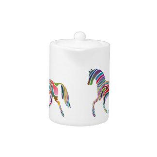 Rainbow horse design teapot