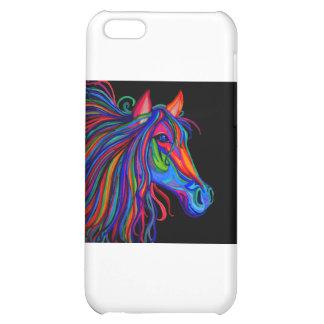 rainbow horse head iPhone 5C cover