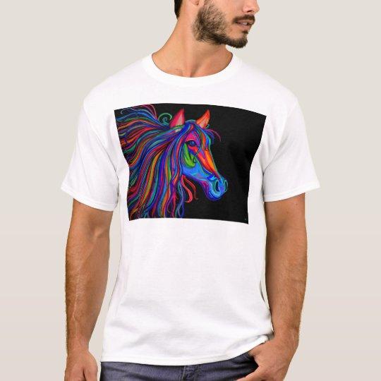 rainbow horse head T-Shirt