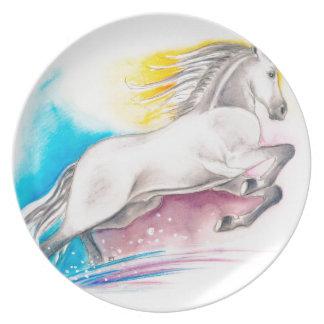 Rainbow Horse Melamine Plate
