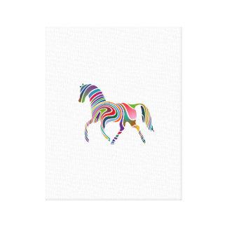 Rainbow horse signature canvas