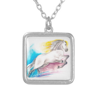 Rainbow Horse Silver Plated Necklace