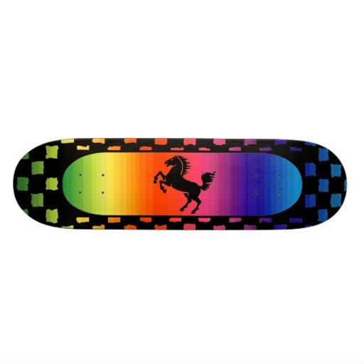 Rainbow horse Skateboard
