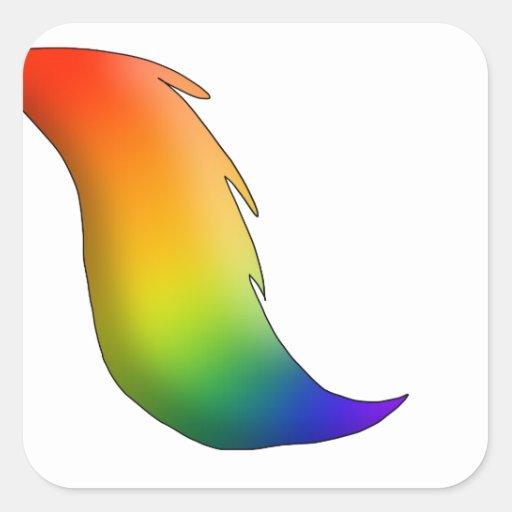 Rainbow_horse_unicorn_tail_square_sticker 217211383097893708 on Square Grid