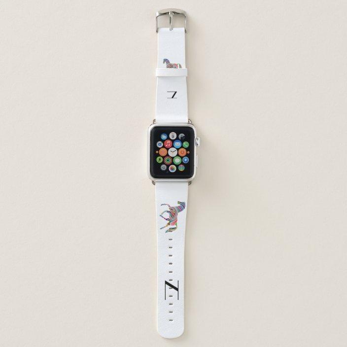 Rainbow Horse Your Monogram Apple Watch Band Zazzle Com