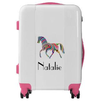 Rainbow horse  - your name luggage
