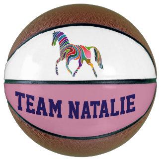 Rainbow horse  - your team  name basketball