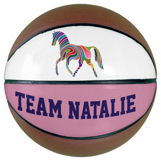 Rainbow horse  - your team  name basketball