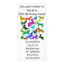 "Rainbow Horses - ""Dotty about Horses!"" Card"