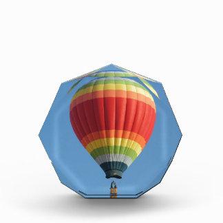 Rainbow Hot air Balloon Acrylic Award