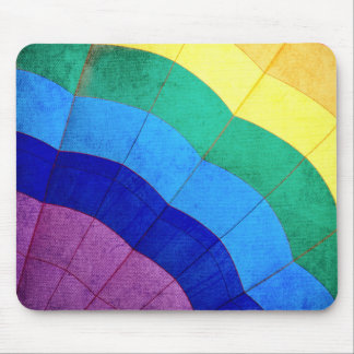 Rainbow Hot Air Balloon Closeup Mouse Pad