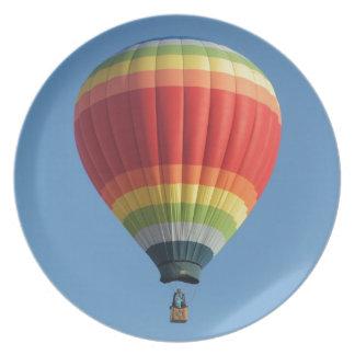 Rainbow Hot Air Balloon Dinner Plate