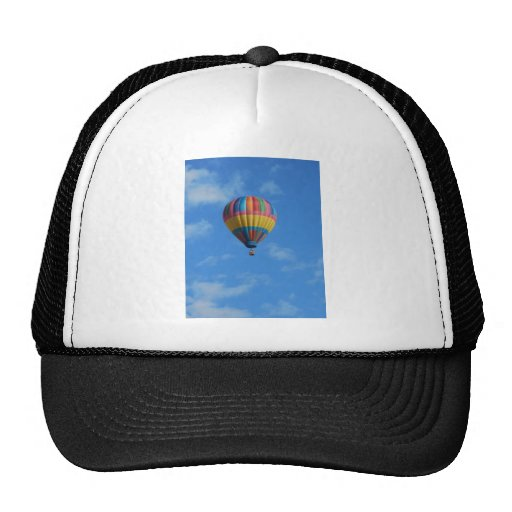 Rainbow Hot Air Balloon Flying in the Sky Trucker Hat