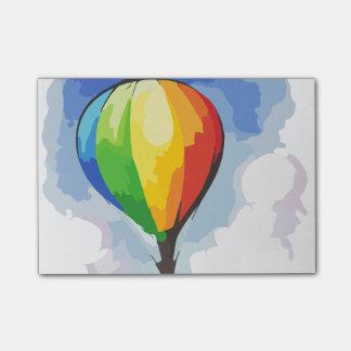 Rainbow Hot Air Balloon Post-it Notes