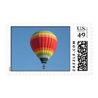 Rainbow hot air balloon postage